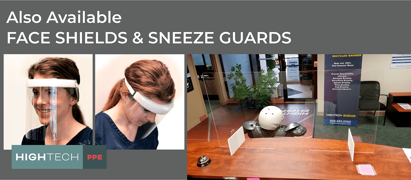 Hightech Face Shields Sneeze Guards