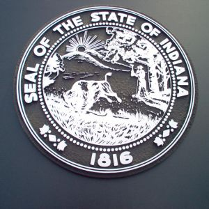 3D Indiana State Seal 1