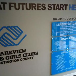 Boys And Girls Club Acrylic Donor Wall
