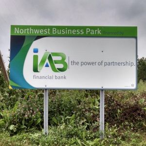 IAB Post And Panel Sign