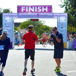 Wine Country Half Marathon Finish Line 1